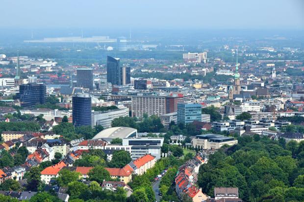 Blick über die Stadt Dortmund