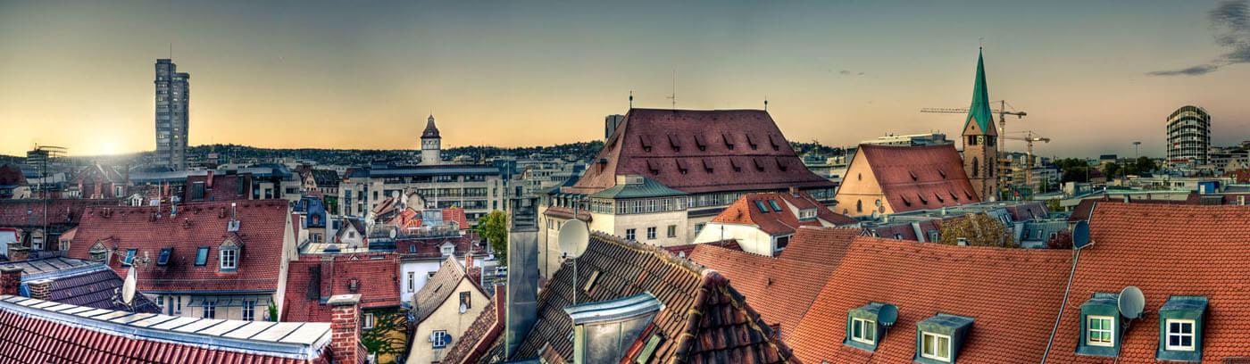 Blick auf die Stadt Stuttgart