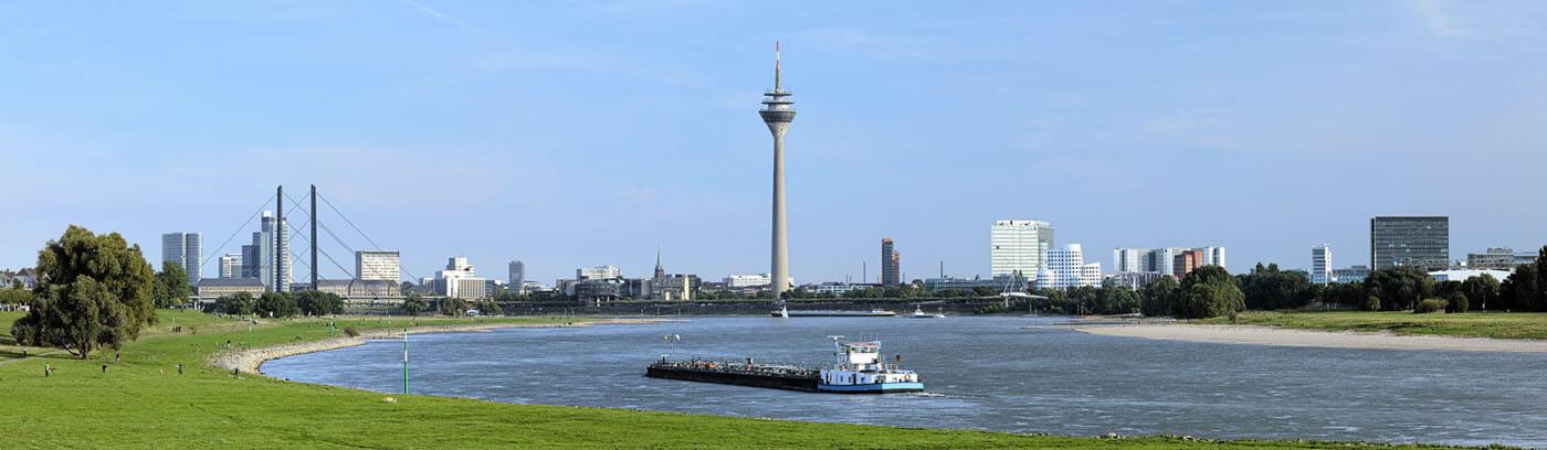 Blick auf die Stadt Düsseldorf